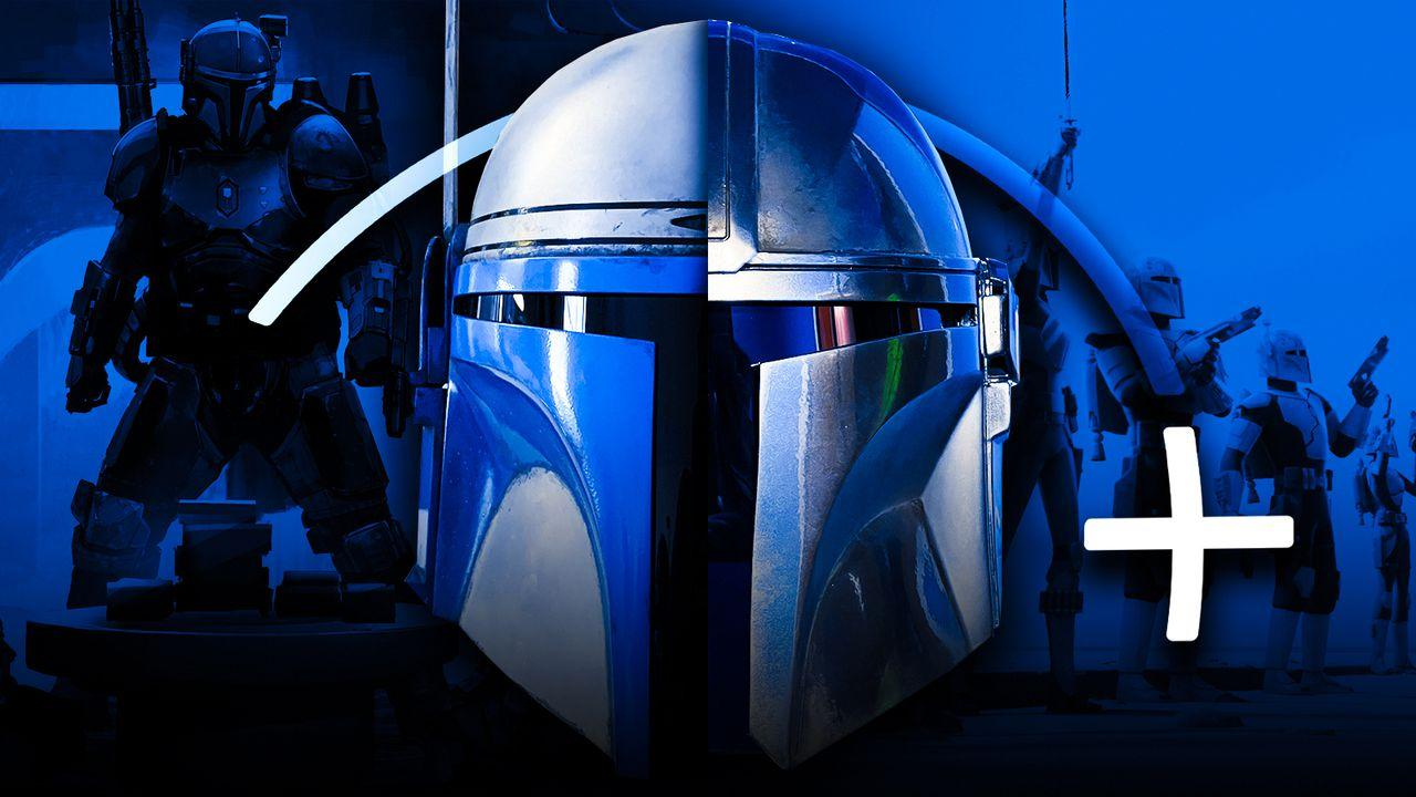 Mandalorian Helmet, Disney+ logo