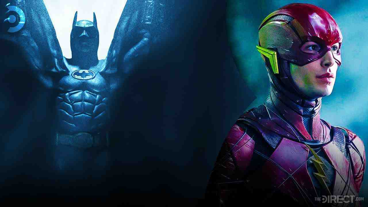 Michael Keaton's Batman, Ezra Miller's The Flash