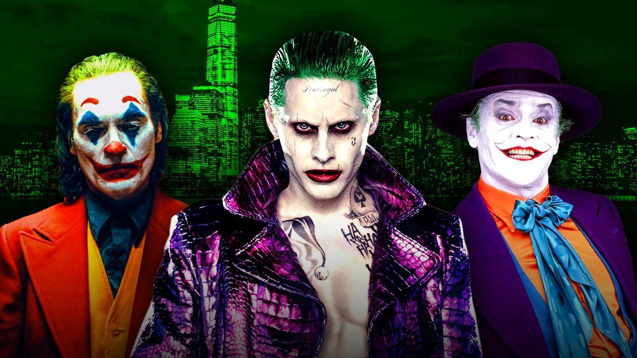 Joaquin Phoenix's Joker, Jared Leto's Joker, Jack Nicholson's Joker
