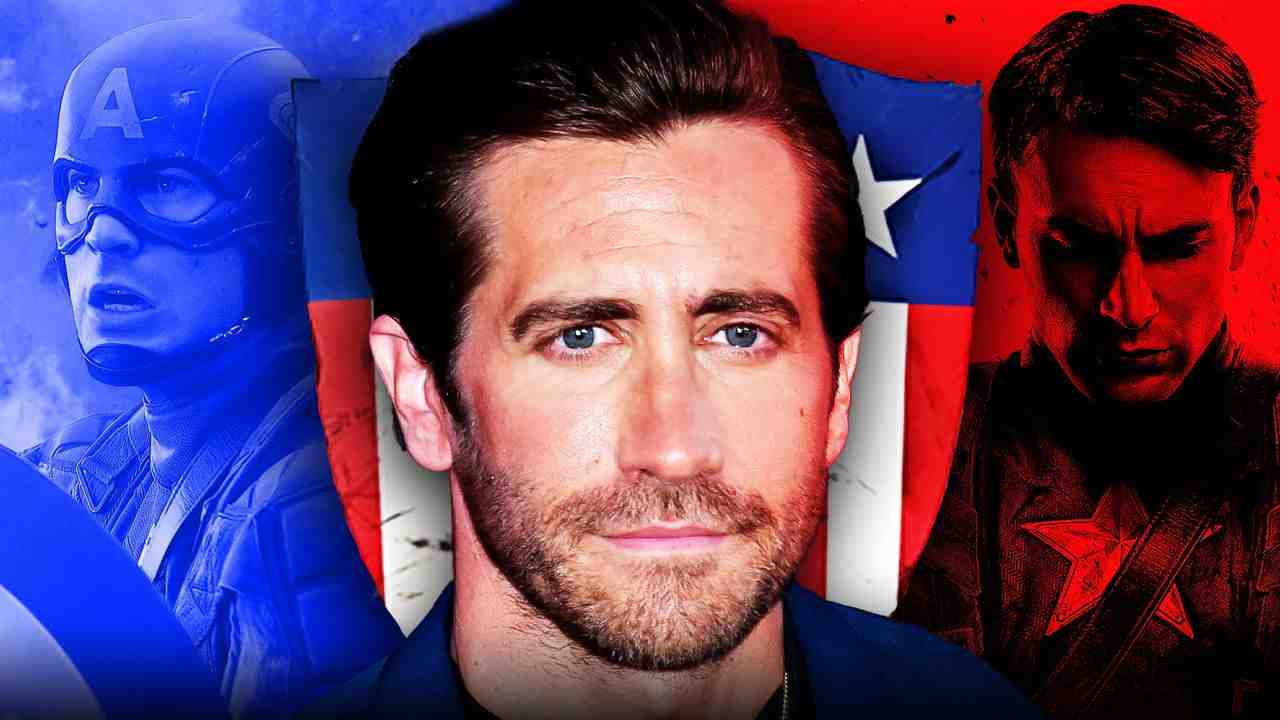 Jake Gyllenhaal, Chris Evans as Captain America
