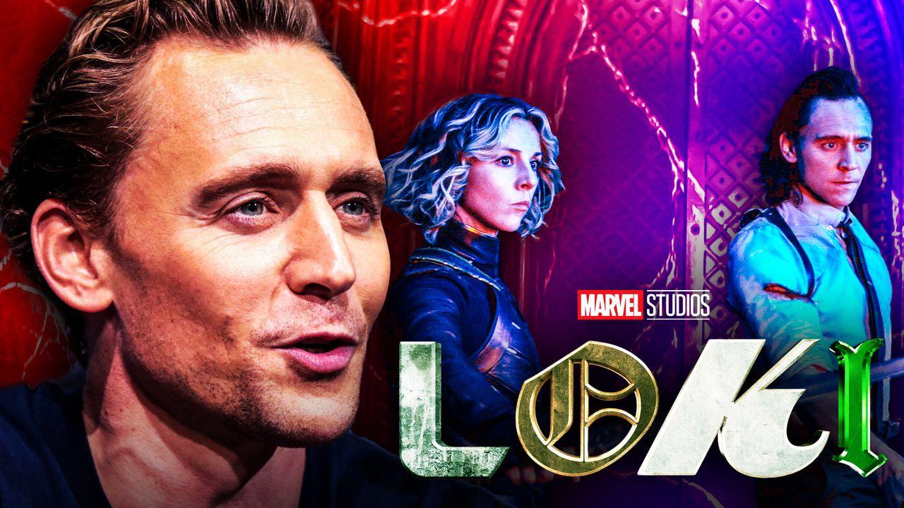 Tom Hiddleston as Loki, Loki logo, Sophia Di Martino as Sylvie