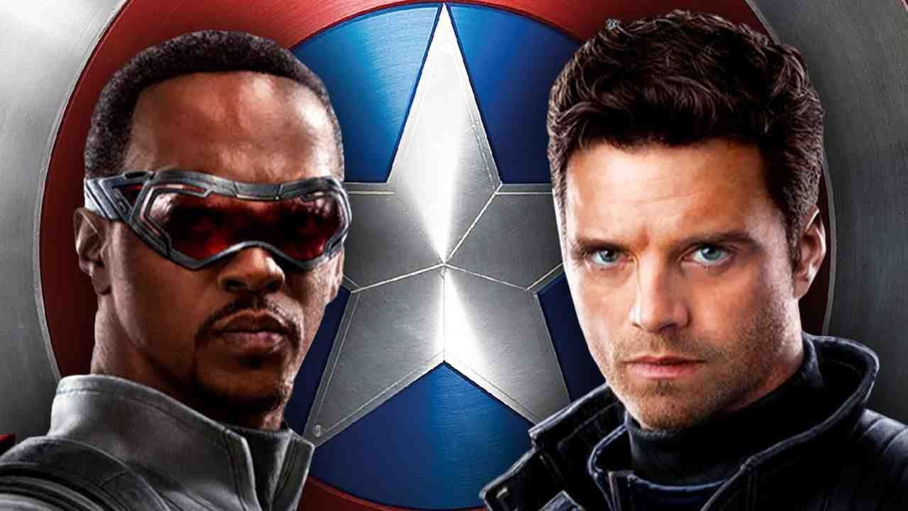 Falcon, Captain America shield, Bucky