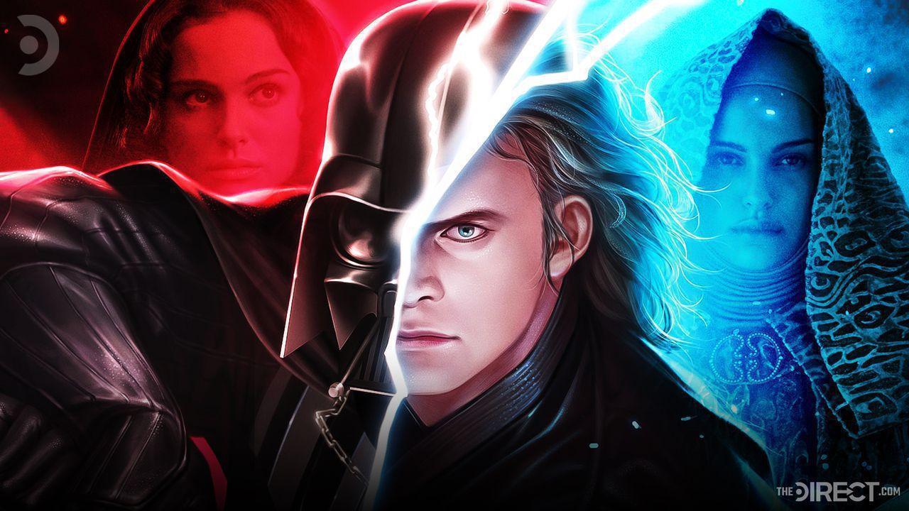 Darth Vader, Hayden Christensen as Anakin Skywalker, Natalie Portman as Padme Amidala
