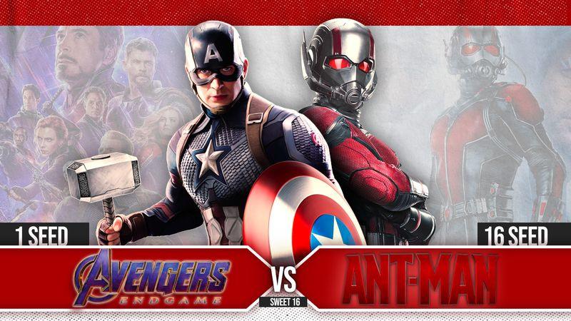 #1 Avengers: Endgame vs. #16 Ant-Man