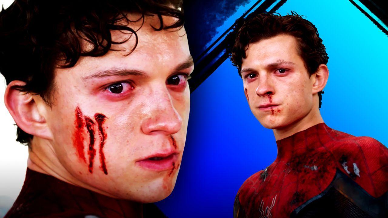 Spider-Man, Tom Holland bloody