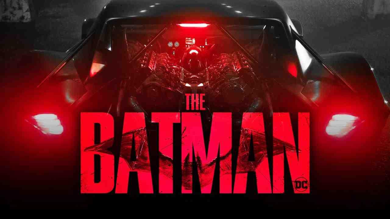 The Batman logo, Batmobile