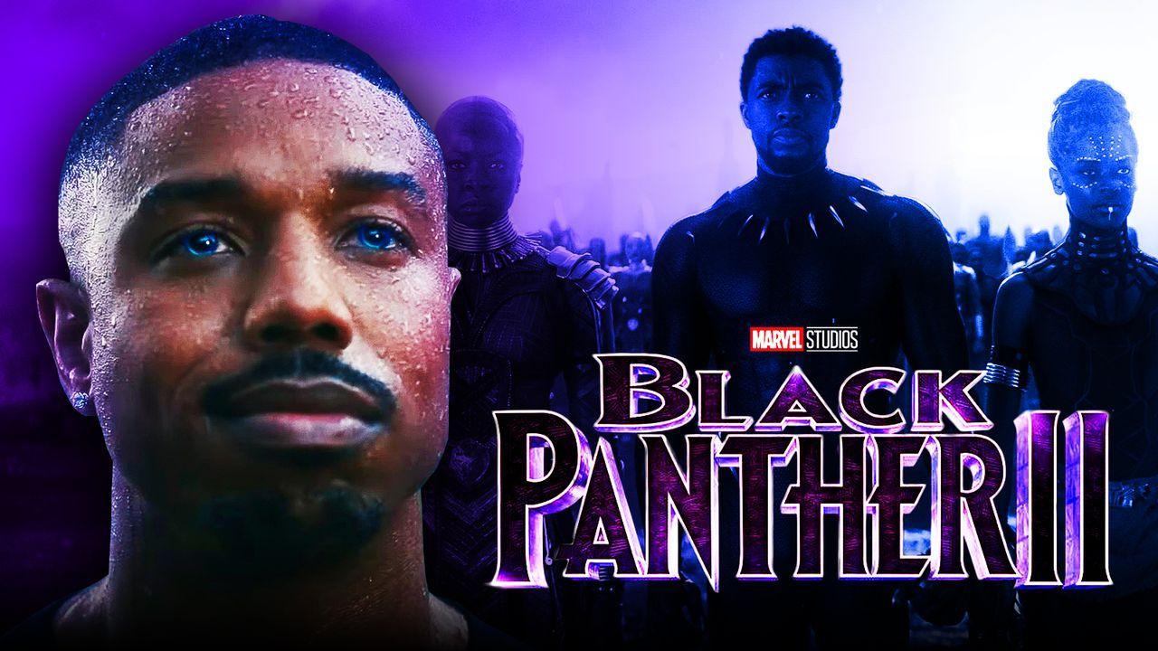 Michael B. Jordan as Killmonger, Black Panther 2 logo