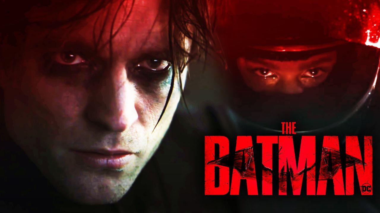 Robert Pattinson as Batman, Zoe Kravitz' Catwoman, The Batman logo