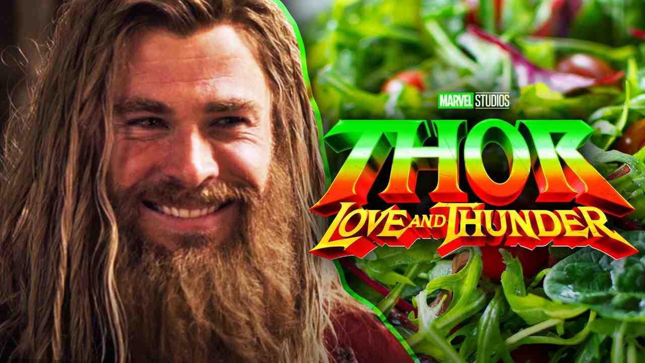 Chris Hemsworth as Thor, Thor: Love and Thunder logo