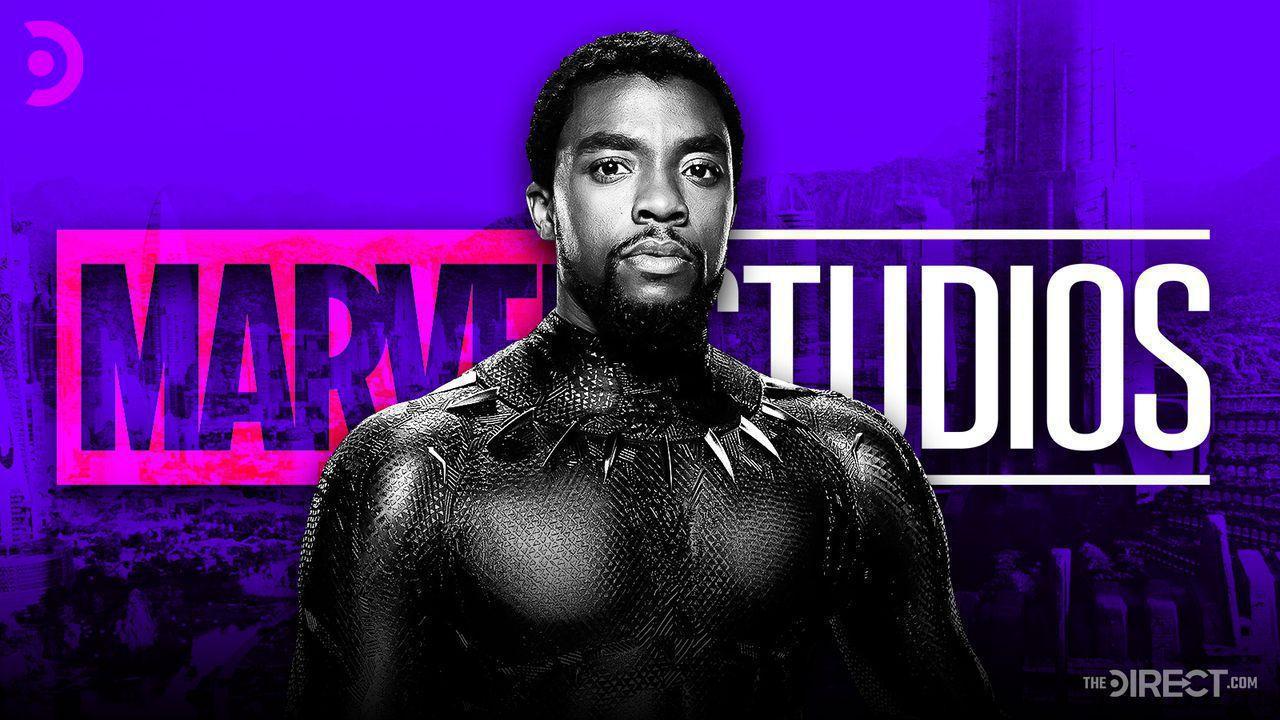 Chadwick Boseman as T'Challa with purple overlay