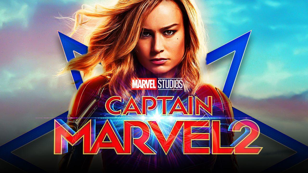 Brie Larson as Captain Marvel, Captain Marvel 2 logo