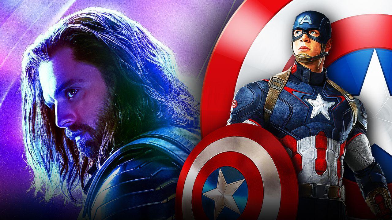 Chris Evans as Captain America, Sebastian Stan as Sam Wilson