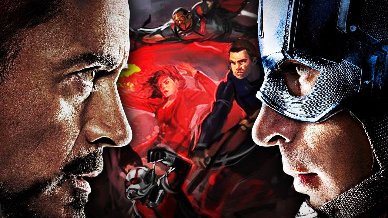 Tony Stark, Concept art, Steve Rogers