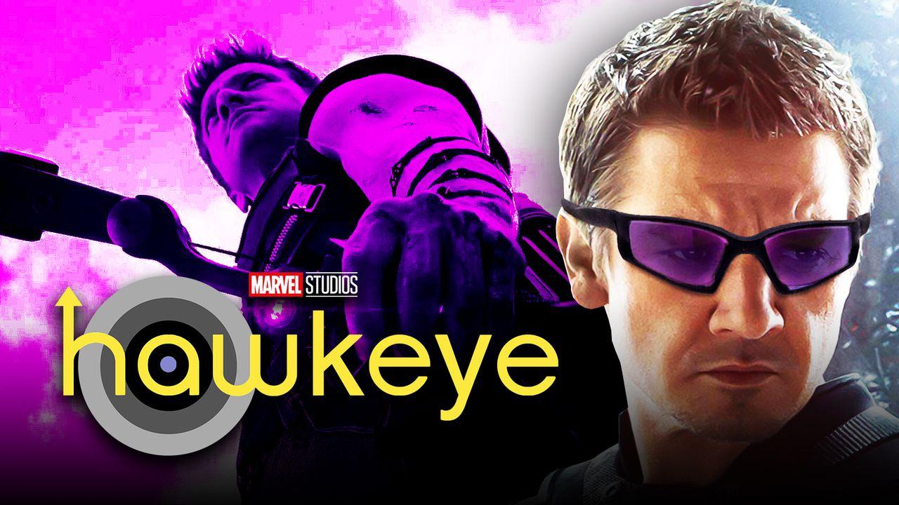 Jeremy Renner as Clint Barton, Hawkeye logo