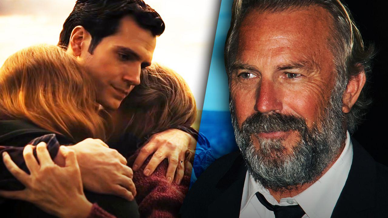 Henry Cavill as Clark Kent and Kevin Costner