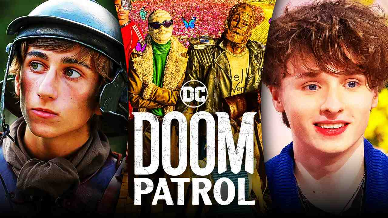 Doom Patrol logo, Sebastian Croft, Ty Tennant