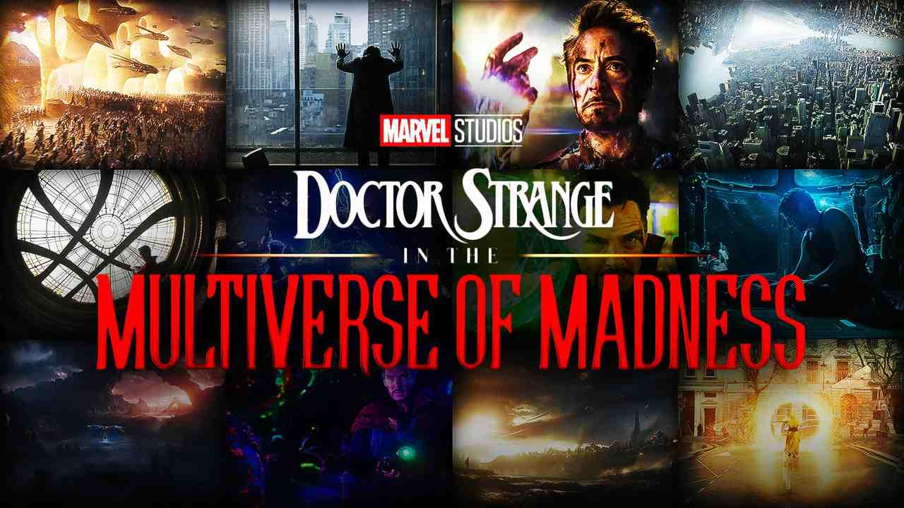 Doctor Strange in the Multiverse of Madness logo, scenes