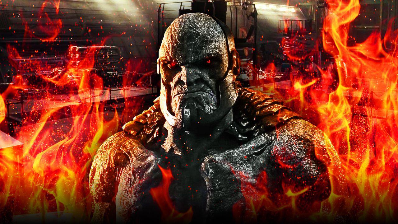 Darkseid Justice League flames