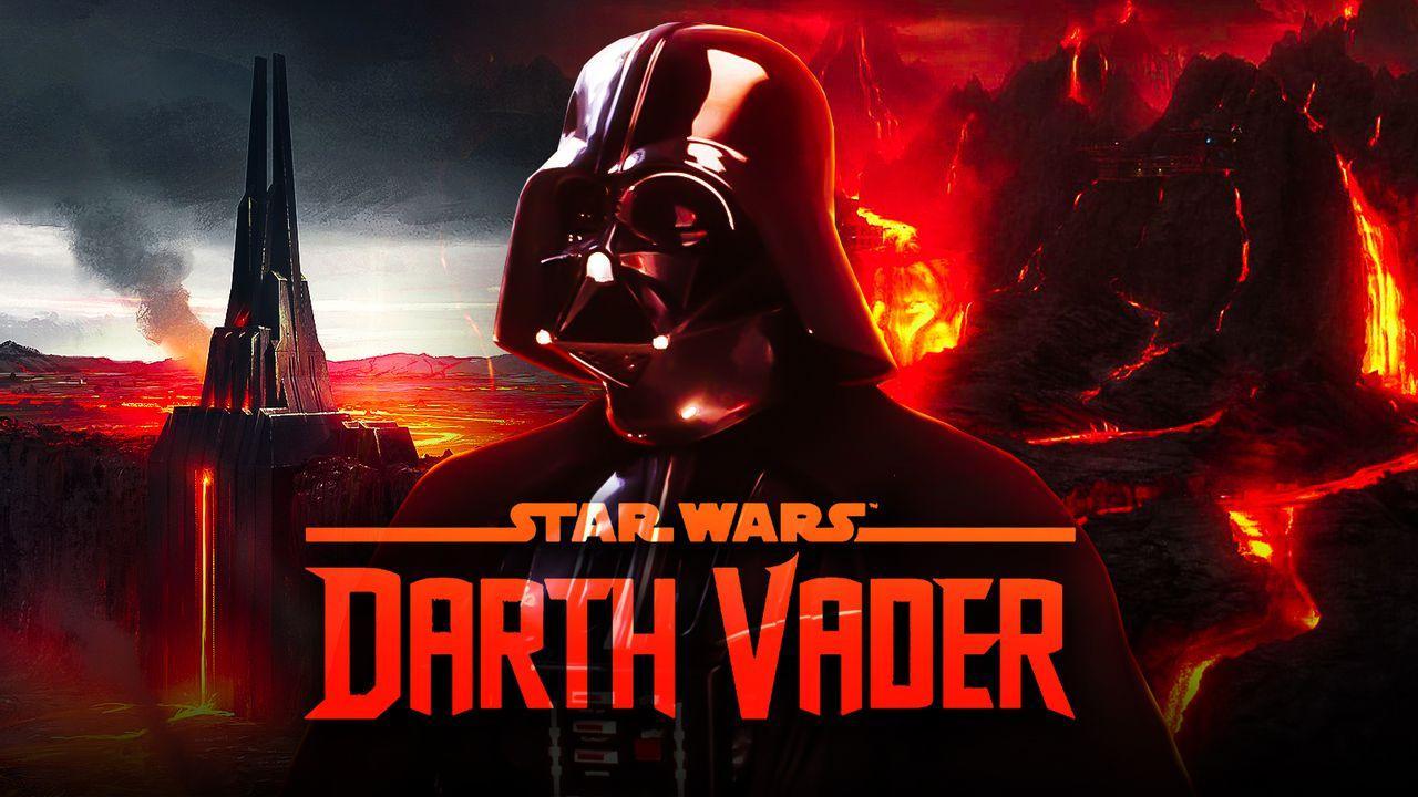 Darth Vader's Castle, Darth Vader, Darth Vader comic logo, Mustafar