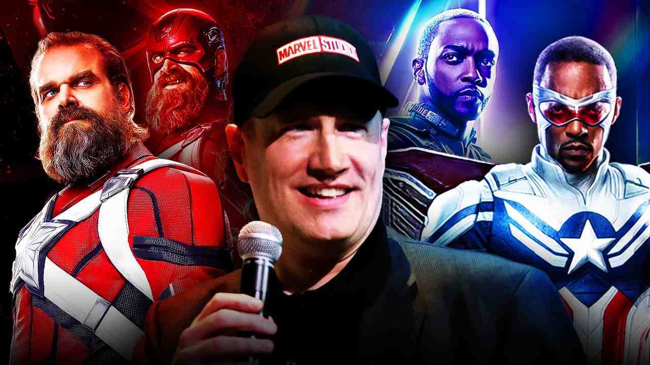 David Harbour as Red Guardian, Anthony Mackie as Captain America, Kevin Feige
