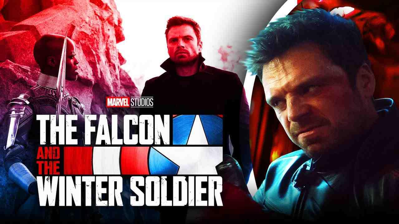 The Falcon and the Winter Soldier logo, Bucky Barnes, Dora Milaje
