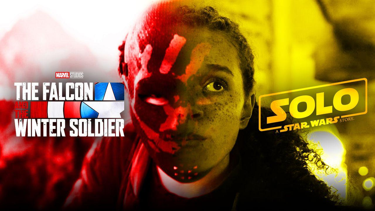 Erin Kellyman, Solo A Star Wars Story logo, The Falcon and the Winter Soldier logo