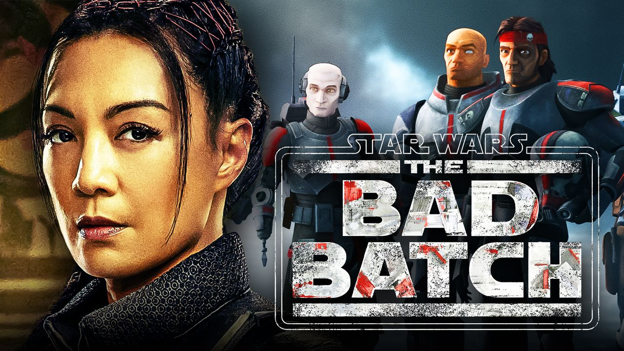 Ming-Na Wen as Fennec Shand, Star Wars: The Bad Batch logo, The Bad Batch team