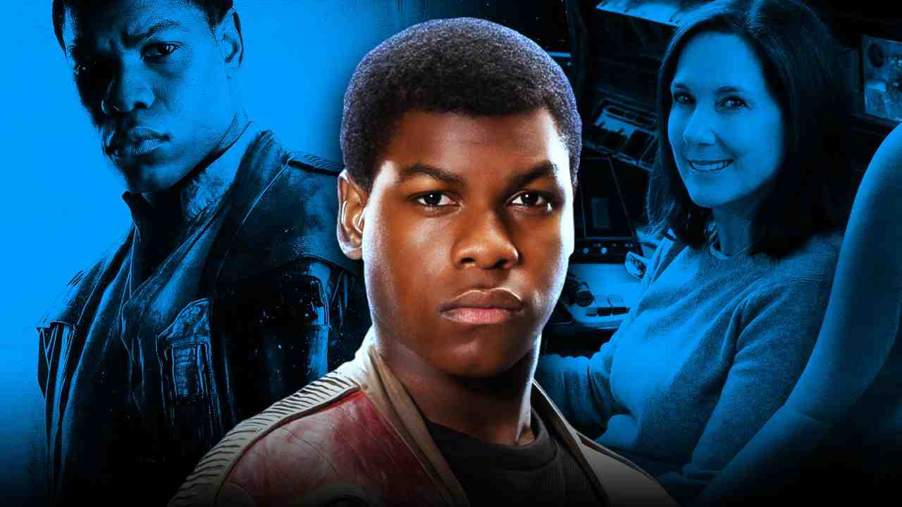 John Boyega as Finn, Kathleen Kennedy