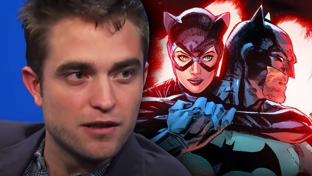 Robert Pattinson and Batman and Catwoman