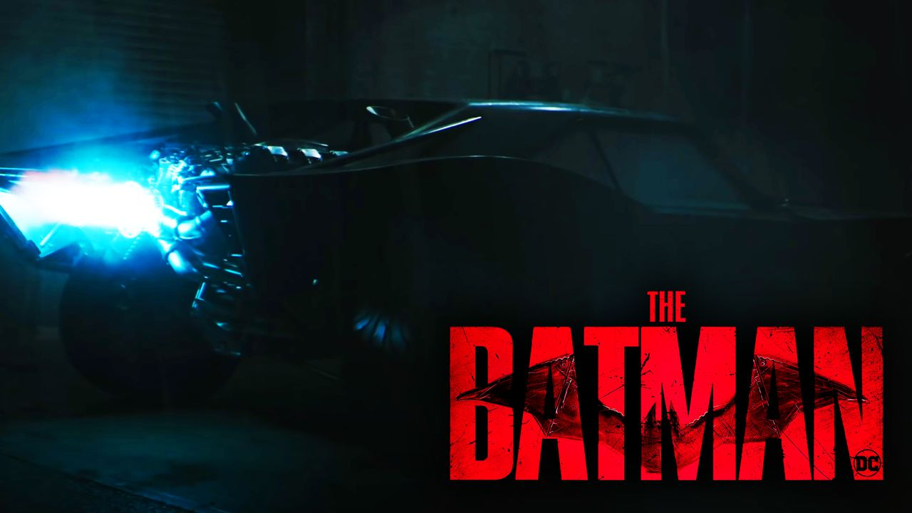 Batman logo with Bat Mobile
