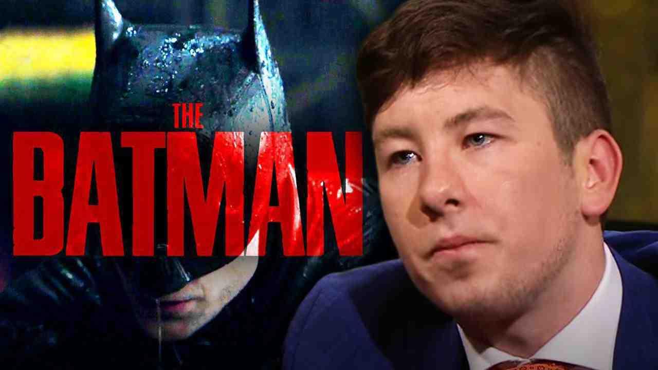 The Batman logo and Barry Keoghan