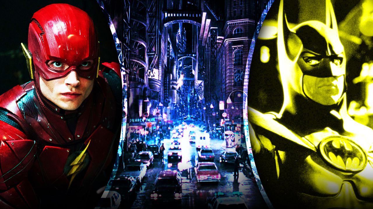 Flash Batman Gotham City