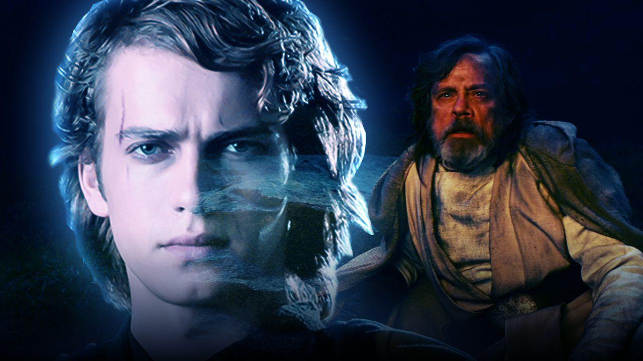 Hayden Christensen as Anakin Skywalker, Mark Hamill as Luke Skywalker