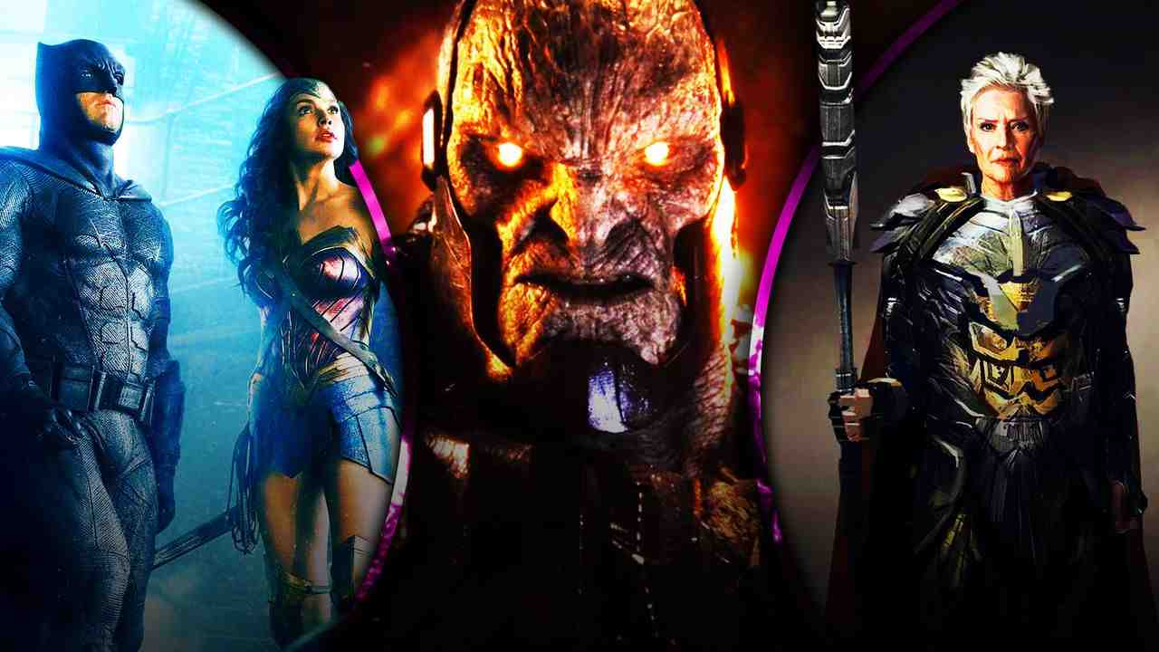Batman and Wonder Woman with Darkseid and Granny Goodness
