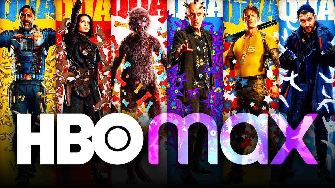 HBO Max logo, The Suicide Squad characters