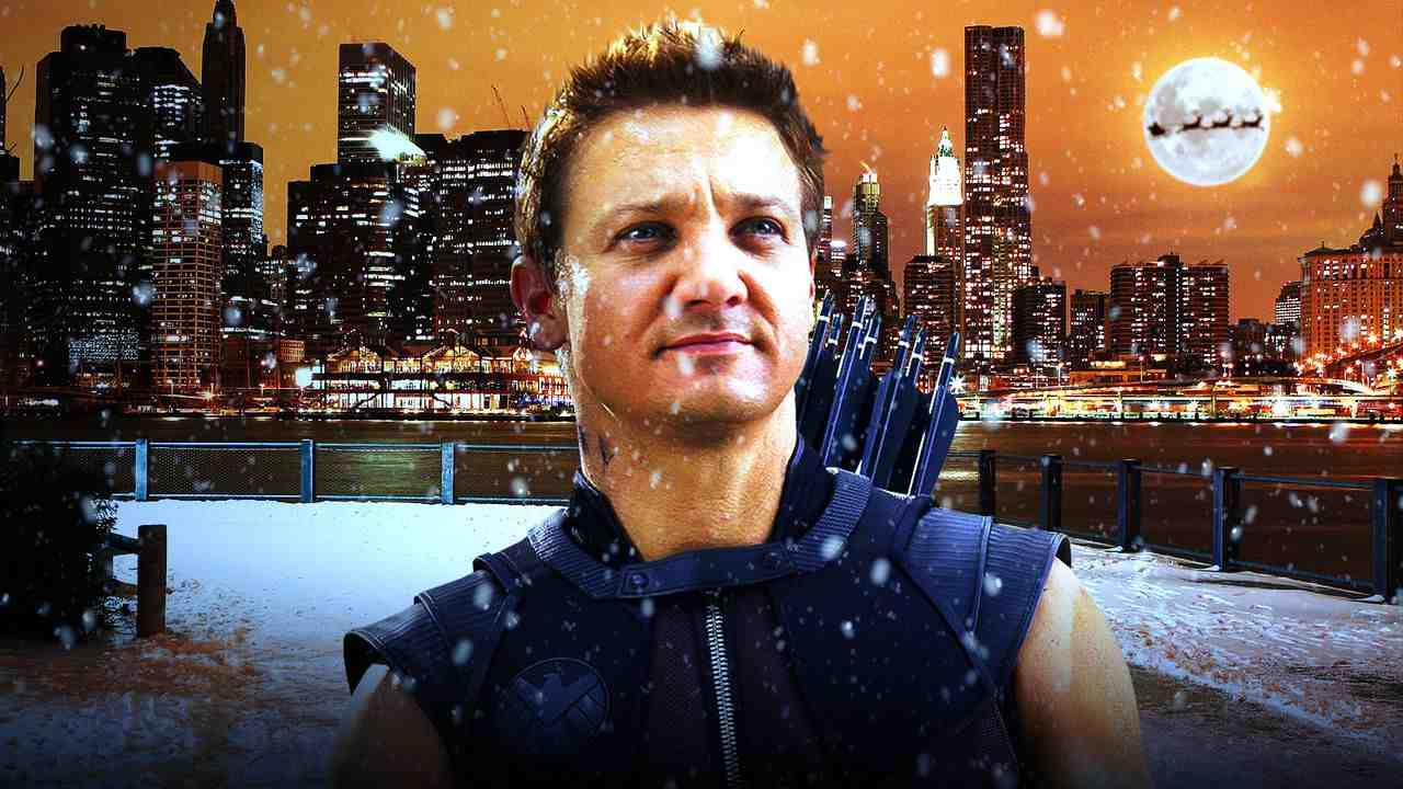 Hawkeye standing in the snow