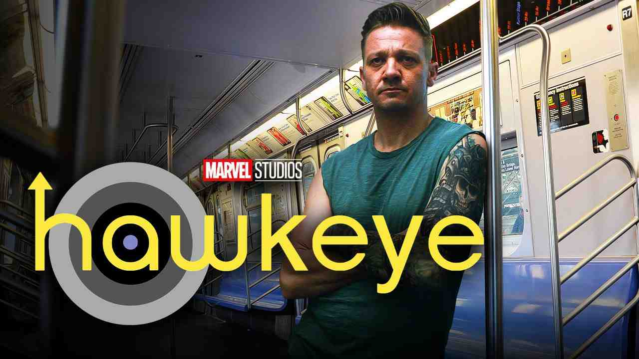 Hawkeye in subway car