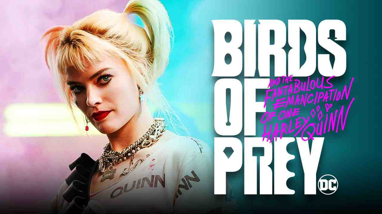 Margot Robbie's Harley with Birds of Prey logo