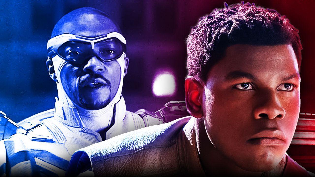 John Boyega as Finn, Marvel Studios logo