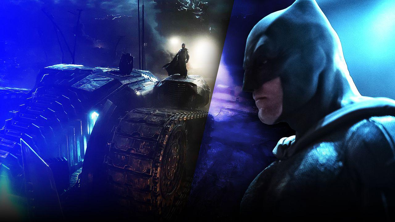 Ben Affleck as Batman, Zack Snyder's Justice League, Batmobile