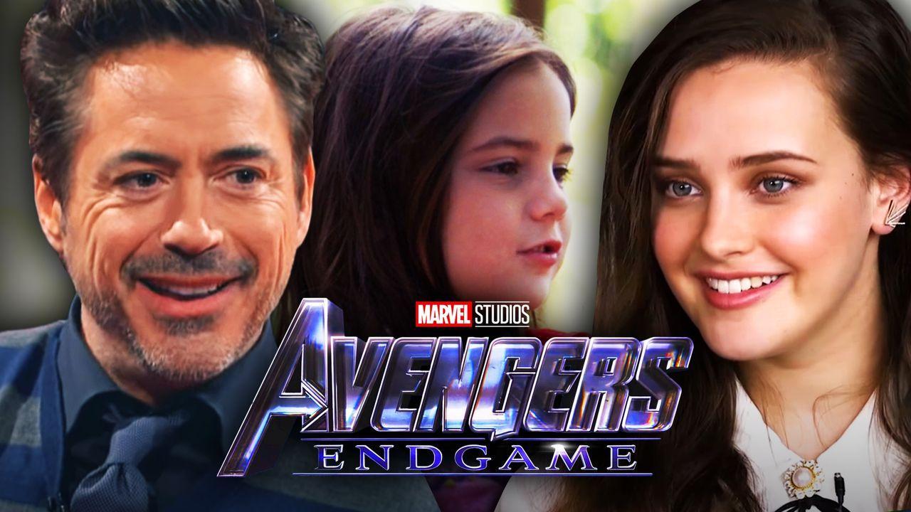 Robert Downey Jr, Katherine Langford, Avengers Endgame