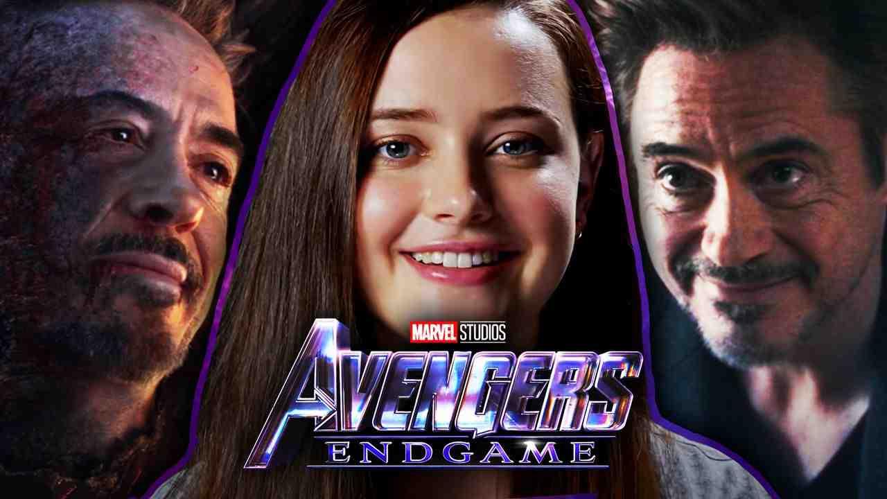 Katherine Langford and Tony Stark