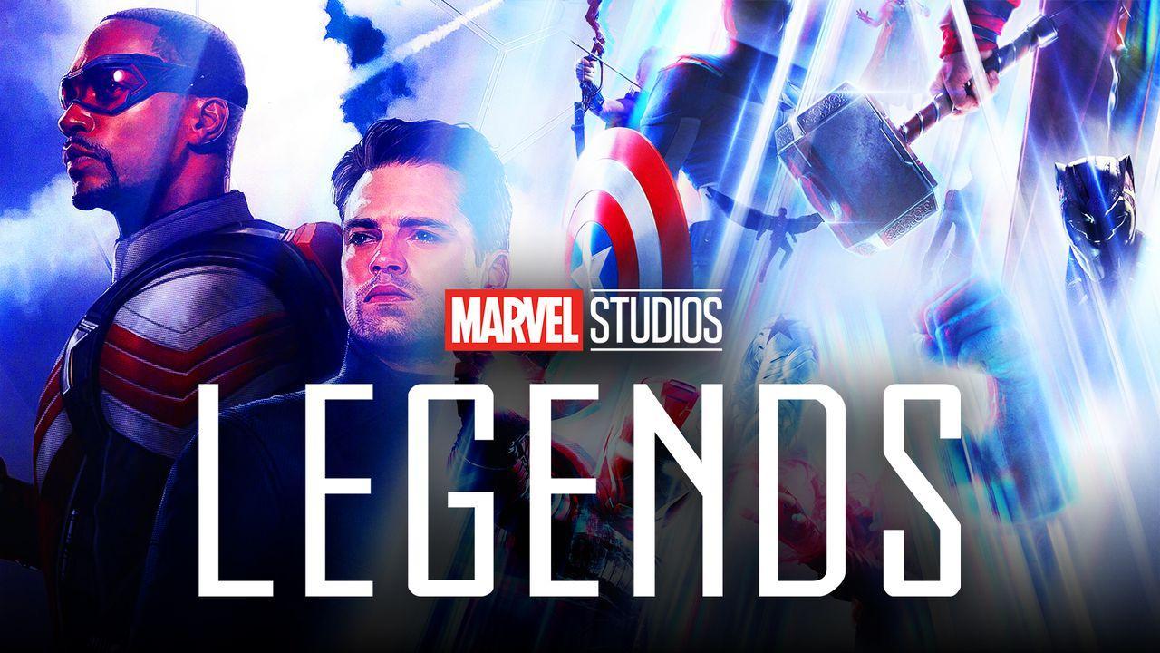 Marvel Studios: Legends logo, Anthony Mackie as Sam Wilson, Sebastian Stan as Bucky Barnes