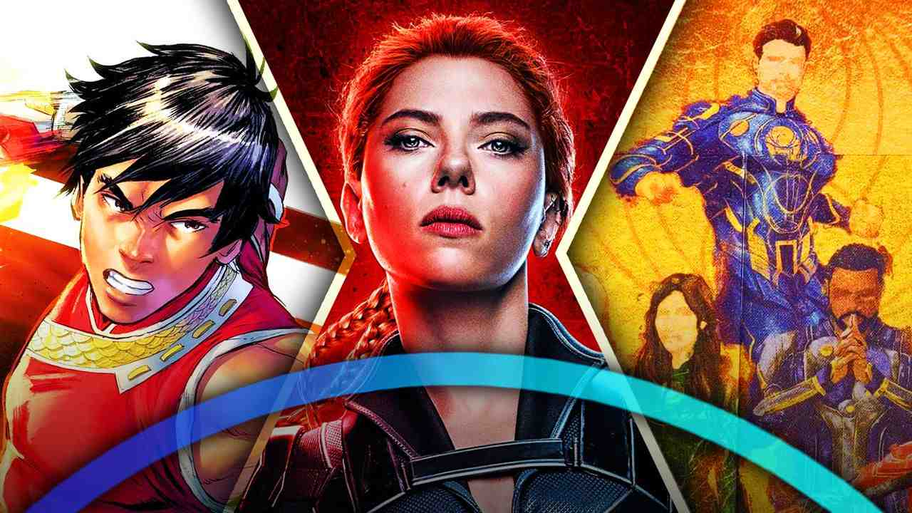 Disney+ logo, Black Widow, Shang-Chi, Eternals
