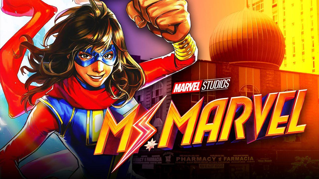 Ms. Marvel in front of Mosque