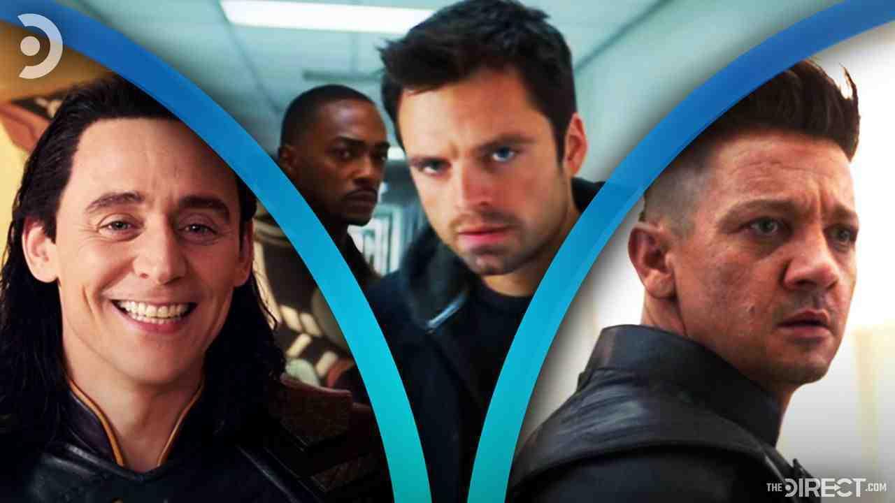 Tom Hiddleston as Loki, Sebastian Stan as Bucky, Jeremy Renner as Hawkeye