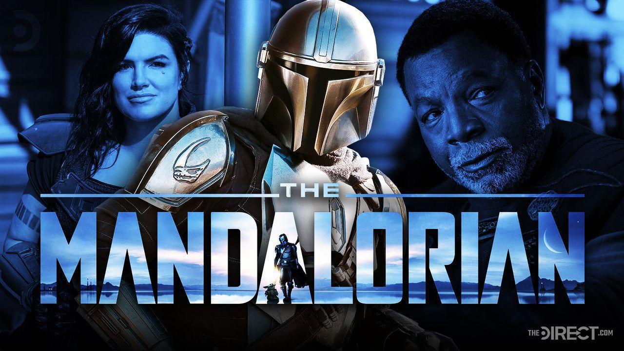Carasynthia Dune, The Mandalorian, and Greef Karga in Season 2