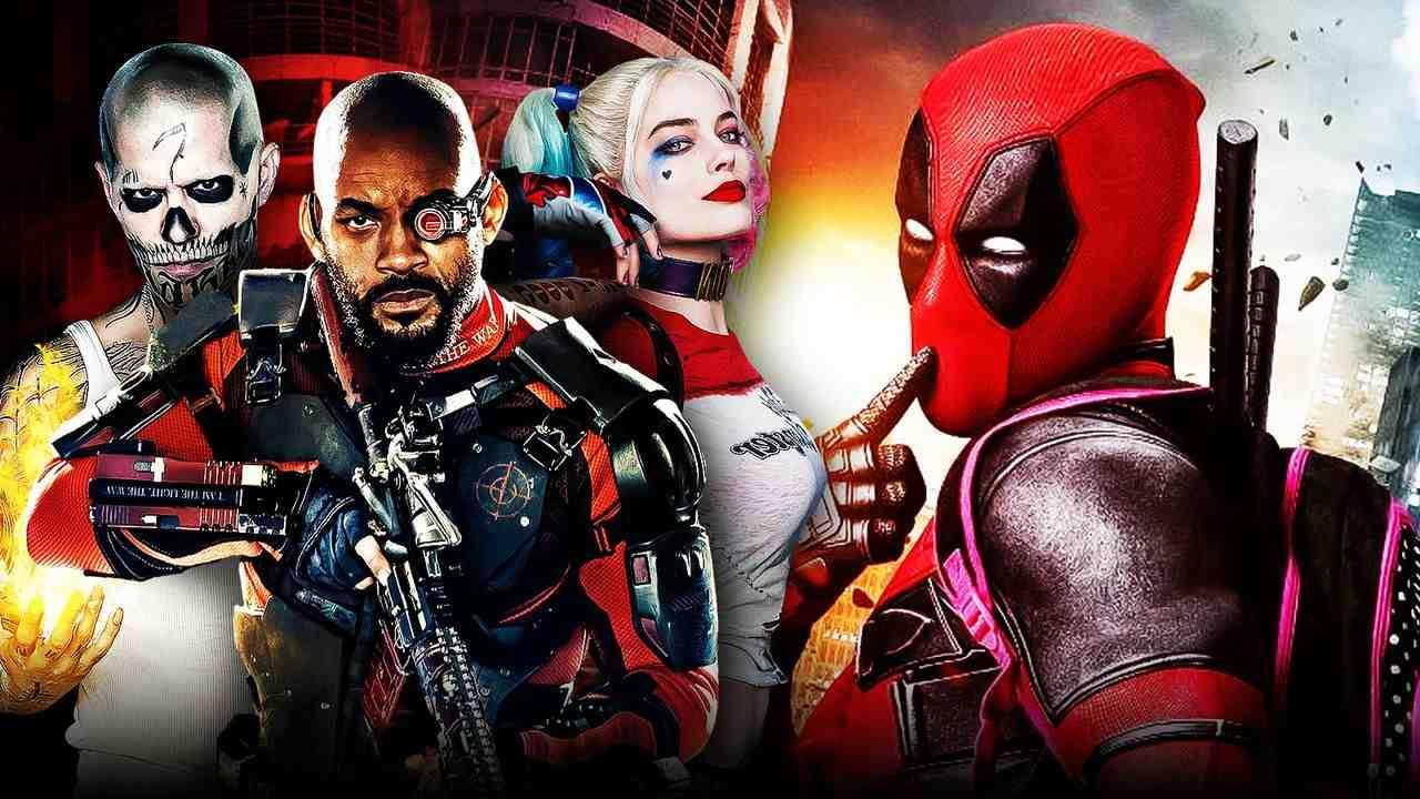 Deadpool, Will Smith as Deadshoot, Margot Robbie as Harley Quinn, Jay Hernandez as El Diablo