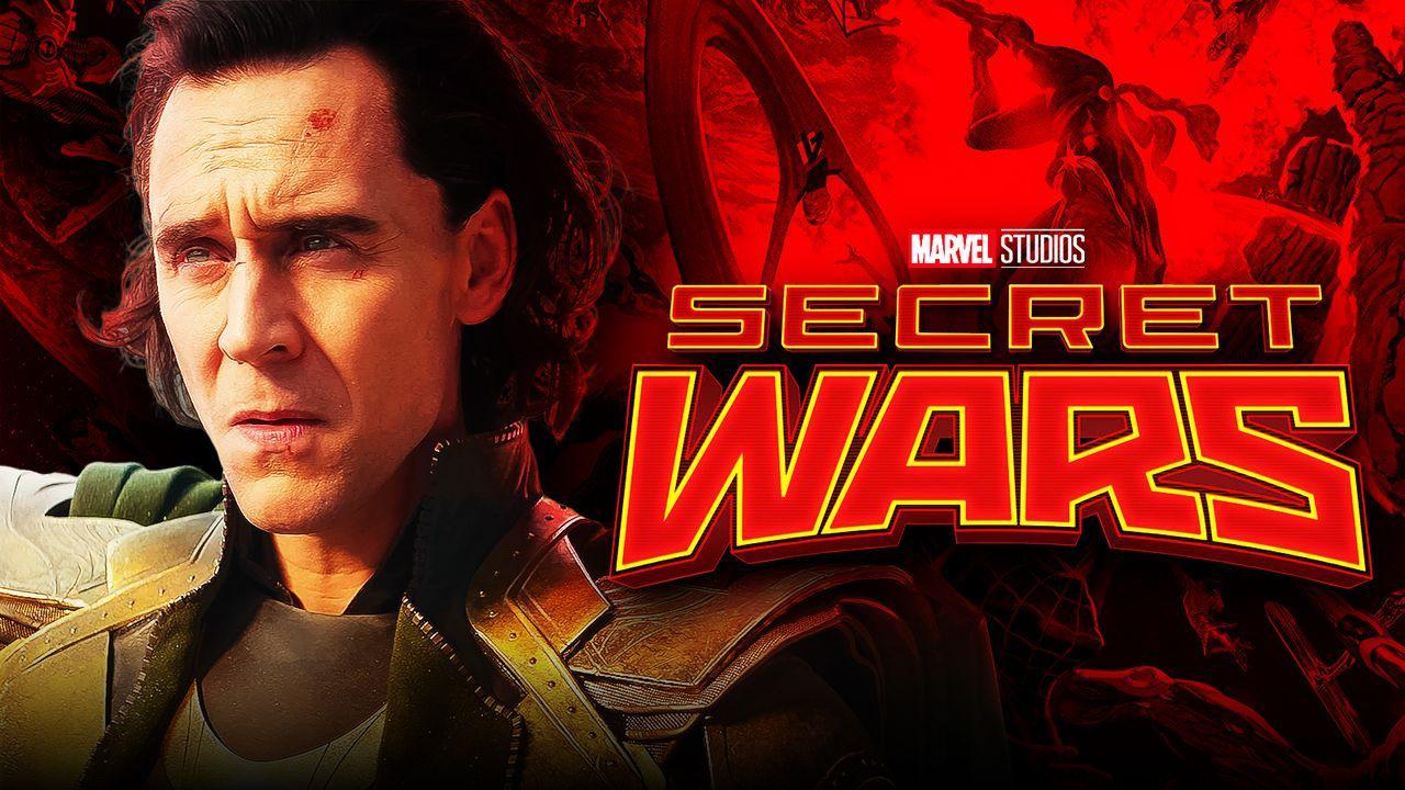 Tom Hiddleston as Loki, Secret Wars logo