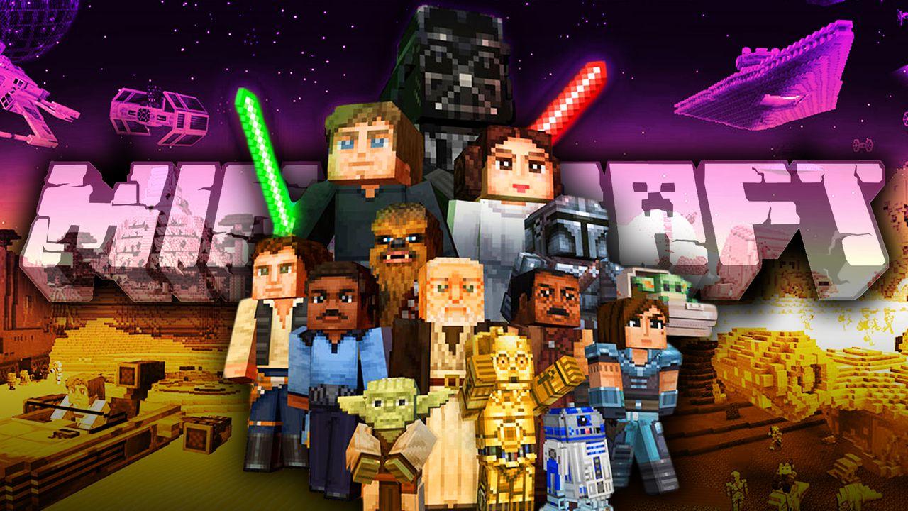 Minecraft logo, Star Wars Minecraft characters